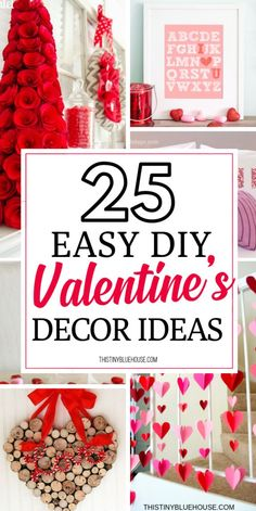 Looking for easy DIY Valentine's Day Decor ideas? Here are of the best DIY V… Looking for easy DIY Valentine's Day Decor ideas? Here are of the best DIY Valentine's Day Decor projects that you can make with dollar store supplies. Valentine Day Wreaths, Valentines Day Gifts For Him, Valentines Day Decorations, Valentine Day Crafts, Kids Valentines, Handmade Valentine Gifts, Valentines Balloons, Printable Valentine, Free Printable