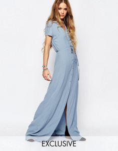 Pin for Later: 79 Robes Longues Super Confort Pour Cet Été  Glamorous Maxi robe boutonnée sur le devant - Bleu (55€)