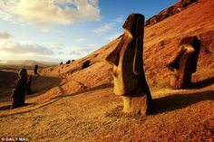 The stone heads on Easter Island (shown above) are thought by some to represent ancestors ...