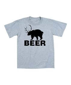 This Athletic Heather 'Beer' Bear Tee - Men by Country Casuals is perfect! #zulilyfinds