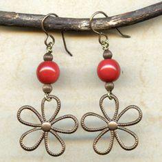 Earrings – Flower Magic from Antelope Beads