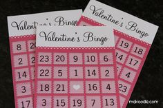 Valentine's Bingo Card Download - Free Printable