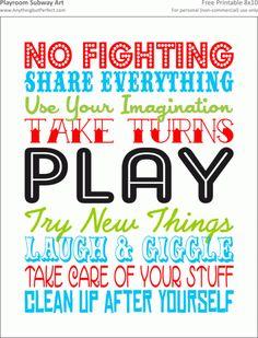 Inspirational. Kids houserules. FUN! By KyraKunstt