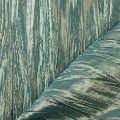 Azure-Gold Crushed Taffeta Fabric