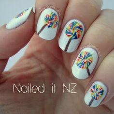 Nailed It NZ: Lollipop nail art!
