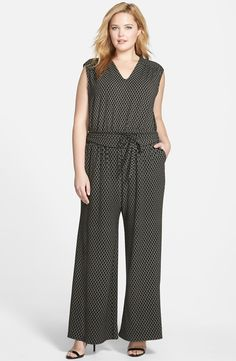Sejour Wide Leg Jersey V-Neck Jumpsuit (Plus Size) Curvy Outfits, Plus Size Outfits, Fat Girl Fashion, Plus Size Bodies, Plus Size Kleidung, Overall, Types Of Fashion Styles, Plus Size Women, Size Clothing