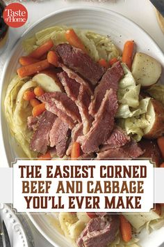 This corned beef and cabbage slow cooker recipe is a fuss-free way to cook the traditional dish. This corned beef and cabbage slow cooker recipe is a fuss-free way to cook the traditional dish. Cabbage Slow Cooker, Slow Cooker Corned Beef, Corn Beef And Cabbage, Cabbage Recipes, Slow Cooker Recipes, Crockpot Recipes, Cooking Recipes, Cabbage Roll, Easy Recipes