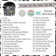 Cinch Top Bin product Ideas. Thirty-One Gifts Www.mythirtyone.com/JanelleFoster