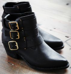 Jeffrey Campbell for Free People Buckle Back Ankle Boots