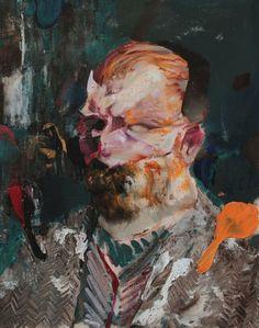 Adrian Ghenie, self portrait as Van Gogh on ArtStack #adrian-ghenie #art