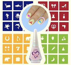 48 Reusable Nail Art Stencils Stickers Vinyl Variety Pack  8ml Latex Peel Off LiquidCuticle Barrier Protector  Tape Guard Skin -- Find out more about the great product at the image link.Note:It is affiliate link to Amazon.