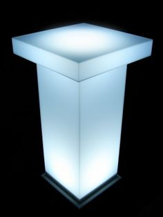Event Prop Hire: Illuminated Poseur Table