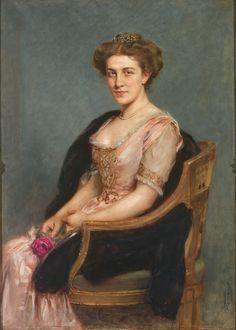 1910 Arthur Ferraris - Portrait of a lady