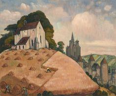 Andre Maire (1898-1984) | Semur-en-Auxois pendant les moissons I Daguerre
