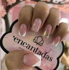 Polygel Nails, Nail Manicure, Love Nails, Acrylic Nails, Light Pink Nails, Valentine Nail Art, Beautiful Nail Designs, Stylish Nails, Perfect Nails