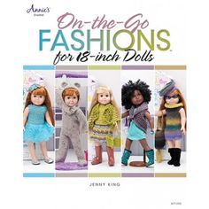 On-the-Go Fashions for Dolls (Annie's Crochet) -Paid and Free Crochet Patterns for Dolls Like the American Girl Doll American Doll Clothes, Ag Doll Clothes, Crochet Doll Clothes, Doll Clothes Patterns, Doll Patterns, Dress Patterns, Crochet Dresses, Annie's Crochet, Crochet Books