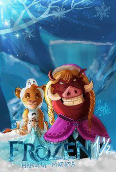 Lion King/Frozen mash-up