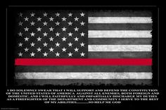 Thin Red Line Oath of Office Flag Poster