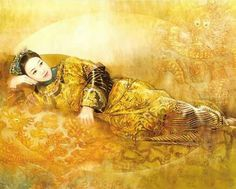 The Ancient Chinese Beauty by Der Jen - Der Jen's Art Painting - The Beauties in Qing Dynasty 21 Art Asiatique, Fabian Perez, Ancient Beauty, China Art, Cg Art, Creative Pictures, Qing Dynasty, Mellow Yellow, Andrew Wyeth