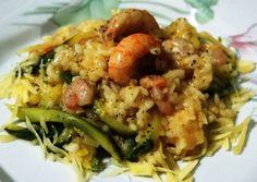 Risoto de Camarão com Zucchini: Prepare um delicioso Risoto de Camarão acompanhado da nossa Abobrinha italiana (Zucchini) ao perfume do Limão Siciliano!