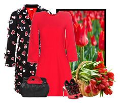 """""""tulips in a basket"""" by bodangela ❤ liked on Polyvore featuring Alexander McQueen, Miu Miu and RED Valentino"""