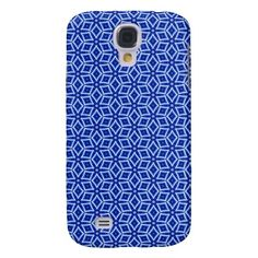 Busy Blue Diamonds Galaxy S4 Covers