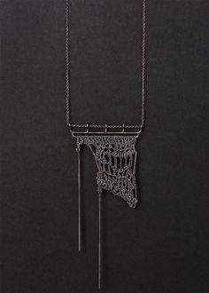 rio negro crochet necklace by PetiteMortShop on Etsy, $127.00
