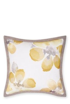 Buy Ochre Watercolour Bloom Embroidered Cushion from the Next UK online shop