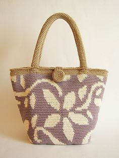 Flower Bag, tapestry crochet pattern by ChabeGS for sale on Ravelry