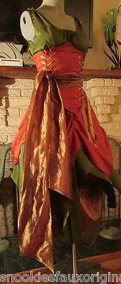 Renaissance FAIRY Dress costum Wench Womens Costume reversible CORSET