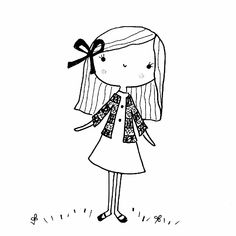 A small selection of my favorite sketches and doodles Les Doodle, Cute Doodle Art, Doodle Art Drawing, Cute Doodles, Cute Art, Doodle Girl, Illustration Mignonne, Cute Illustration, Art Drawings For Kids