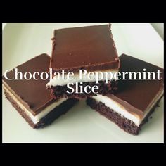 OK, get ready... this slice is to die for... Well that is what everyone says, you see... I don't like chocolate and peppermint together, that's right, no after dinner mints or mint slice biscuits f...