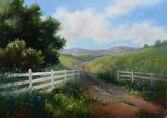 """White Fence,"" original oil painting, 18x24, Available at Rich Timmons Studio & Gallery, 3795gallery.com"