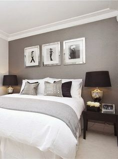 just the grey wall colour master bedroom idea color - Colors Master Bedrooms