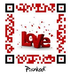 Pixinkod full of love 2D barcode