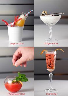 Cuatro cócteles con zumos de fruta para Navidad