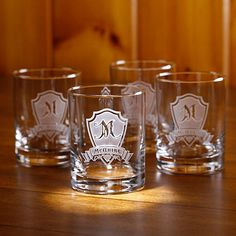 Whiskey Glasses, Scotch Bourbon Glasses. Engraved personalized rocks glasses make great gifts for men and women, for the mancave, home bar and as a keepsake wedding gift for the special bride and groom. Hand crafted in the USA by Crystal Imagery. #whiskey #scotch #bourbon