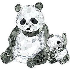 online shopping for Swarovski Panda Mother Baby Crystal Figurine from top store. See new offer for Swarovski Panda Mother Baby Crystal Figurine Panda Bebe, Cute Panda, Glass Figurines, Collectible Figurines, Swarovski Crystal Figurines, Swarovski Crystals, Image Panda, Canard Mandarin, Panda Watch