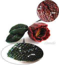 Peyote Beadwork Patterns Free Printable   Free delicas bead patterns) / (trillium delicas schemas free)
