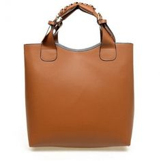 6a11701a5 Not sure why I love this, but I do - Solid Zipper Brown Clutches Bag