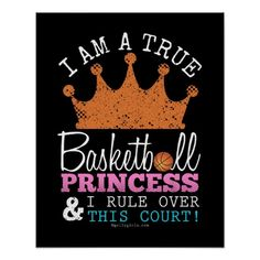 Golly Girls: Basketball Princess Rule This Court Poster