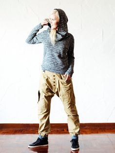 Drop crotch baggy harem pants // 100% cotton / by VALOdesigns