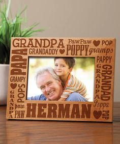 personalized planet words for grandpa personalized frame
