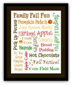 Decorate  for Fall CHEAP with printable Subway Art - Meet Penny