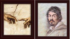 bubble light: Michelangelo alla SIstina a Roma e autoritratto in...