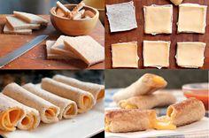 Rollitos de queso fundido, ¡simplemente deliciosos! - Recetín