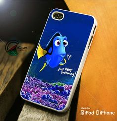 Just Keep Swimming iPhone 4 5 5c 6 Plus Case, Samsung Galaxy S3 S4 S5 Note 3 4 Case, iPod 4 5 Case, HtC One M7 M8 and Nexus Case
