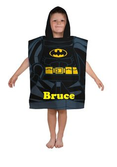 DC Comics LEGO BATMAN Boy's Hooded Towel Poncho – Personalized by CACBaskets on Etsy