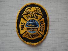 Patch fire Tampa Fire Department USA Florida 100%ORIGINAL Rarity