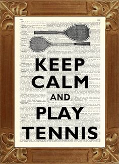 Keep calm Print Keep calm and play tennis Dictionary by PrintLand, $9.50